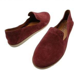 New Zodiac Suede Shoes flats kit loafer sz 11 wine